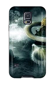 New Fashion Premium Tpu Case Cover For Galaxy S5 - The Serpent Around The Castle