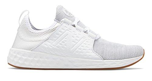 尾億ミュウミュウ(ニューバランス) New Balance 靴?シューズ レディースライフスタイル Fresh Foam Cruz White Munsell with Silver Mink ホワイト シルバー ミンク US 5 (22cm)