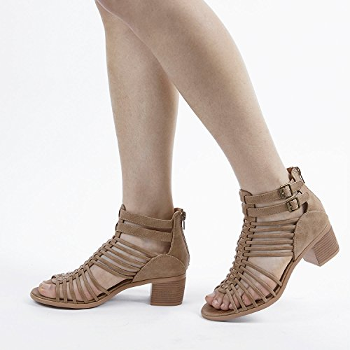 TOETOS Women's Ivy_02 Nude Fashion Block Heeled Sandals Size 11 B(M) US by TOETOS (Image #6)