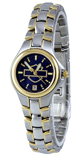 Harley Davidson by Bulova Women's Analog Round Watch Two Tone Steel Bracelet 78M00