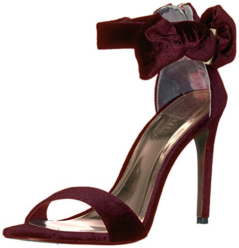 Ted Baker Women's Torabel Heeled Sandal, Burgundy, 10 M US by Ted Baker