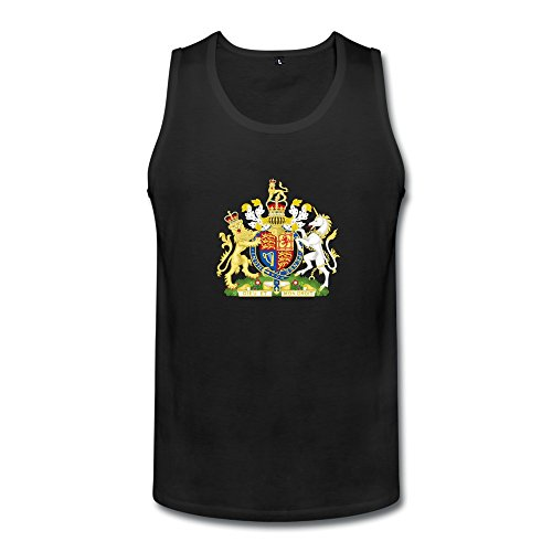 Royal Coat Of Arms Of The United Kingdom Mens Royal Coat Of Arms Of The United Kingdom Tanks Black (Royal Coat Of Arms Of The United Kingdom)