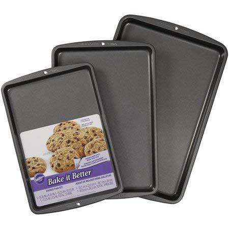 Wilton Bake It Better 3-Piece Cookie Sheet Pan Set, Non-Stick