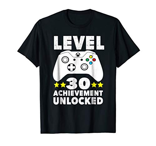30th Birthday Gift T-Shirt Level 30 Achievement Unlocked -