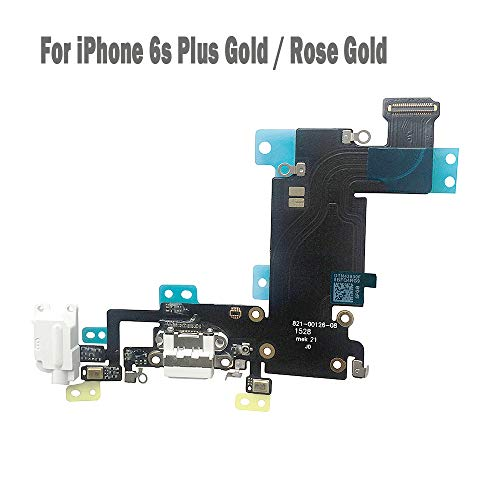 UTechZH USB Charging Port Headphone Jack Dock Connector W/Mic Flex Cable Cellular Antenna Replacement Part Compatible for iPhone 6s Plus 5.5