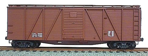 Accurail 7198 HO Outside Braced Wood Boxcar Kit Data Only Mineral Red