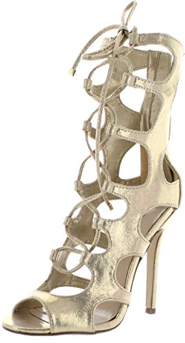 0d3dba326b7 Breckelles Womens Roma-31 Fashion Gladiator Heels Sandals - Buy ...