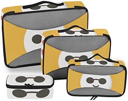 トラベル ポーチ 旅行用 収納ケース 4点セット トラベルポーチセット アレンジケース スーツケース整理 かわいい 鶏卵 キャラクター 収納ポーチ 大容量 軽量 衣類 トイレタリーバッグ インナーバッグ