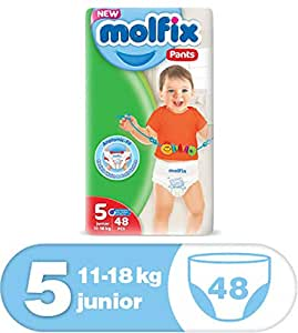 Molfix Anti Leakage Comfortable Junior Baby Diaper Pants, 11-18 kg, 48 Count