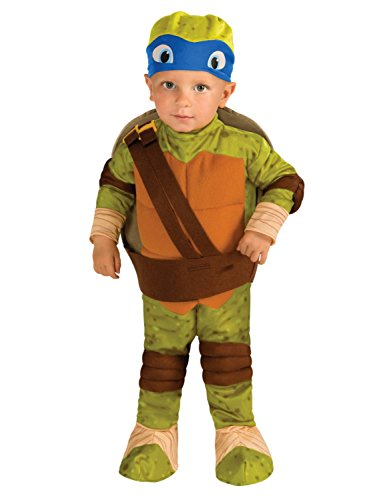 Ninja Turtle Costumes For Toddlers (Teenage Mutant Ninja Turtles Toddler Boys Leonardo Costume with 3D Shell 2T-4T)