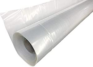 A&A Green Store Greenhouse Plastic Film Clear Polyethylene Cover UV Resistant (8 ft Wide x 25 ft Long)