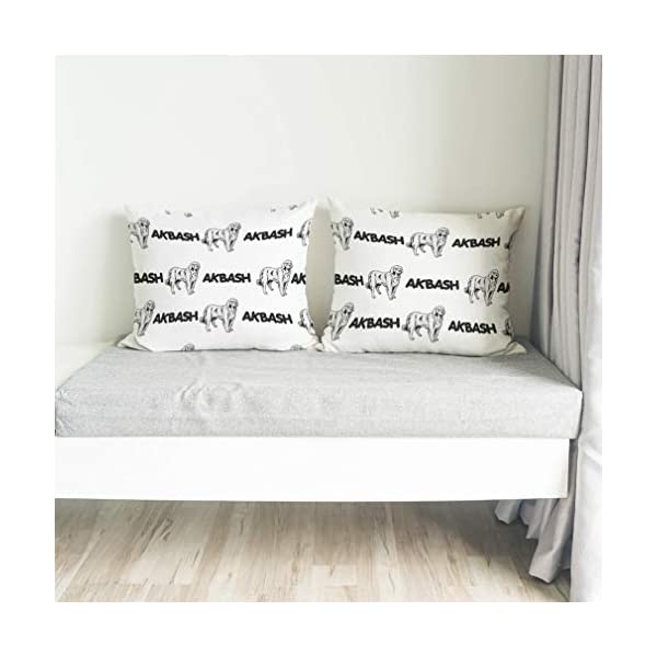 Personalized Pillow Case Akbash Dog Breed Style A Polyester Pillow Cover 20INx28IN Design Only Set of 2 4