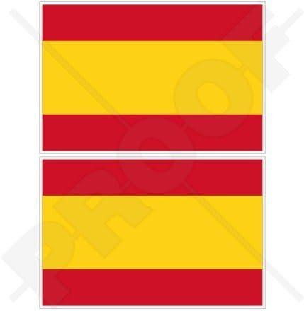 Bandera de España, 100 mm, pegatina de vinilo, 2 unidades: Amazon.es: Jardín
