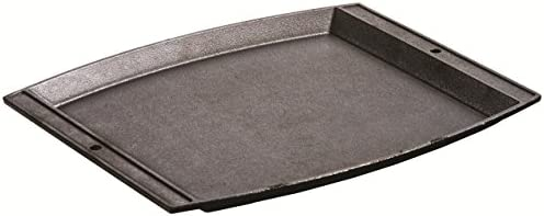 Lodge Seasoned Cast Iron Rectangular Griddle – 15 x 12.25 Inches. Jumbo Chef s Serving Platter