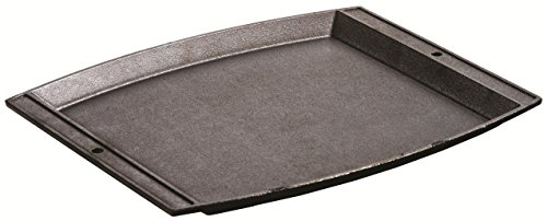 Lodge Seasoned Cast Iron Rectangular Griddle - 15 x 12.25 Inches. Jumbo Chef's Serving Platter Cast Iron Serving Griddle