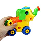 Hot Sale! Canserin Kids Christmas Gift Disassembly Elephant Car Toys Blue