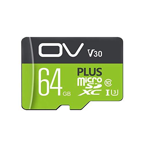 (ROROUS TF Card Flash Memory Card, OV Plus-I U1 U3 32GB 64GB 128GB 256GB Class 10 High Speed Data Storage MicroSD Cards)