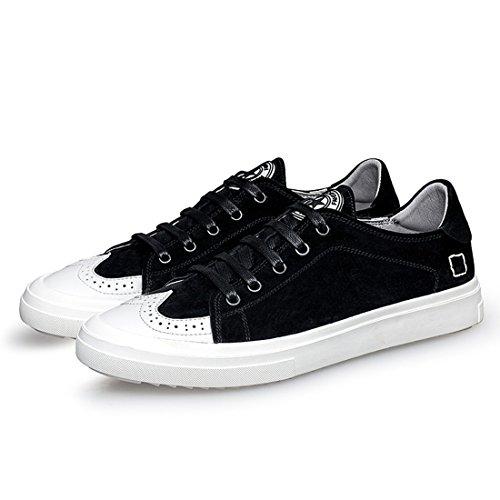 Minishion Boys Mens Wingtip Style De Vie Quotidienne Mode Sneakers De Marche Noir