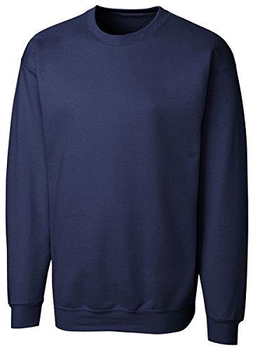 Cutter & Buck MRK01001 Men's Basics Fleece Crew Sweatshirt, Navy - XL