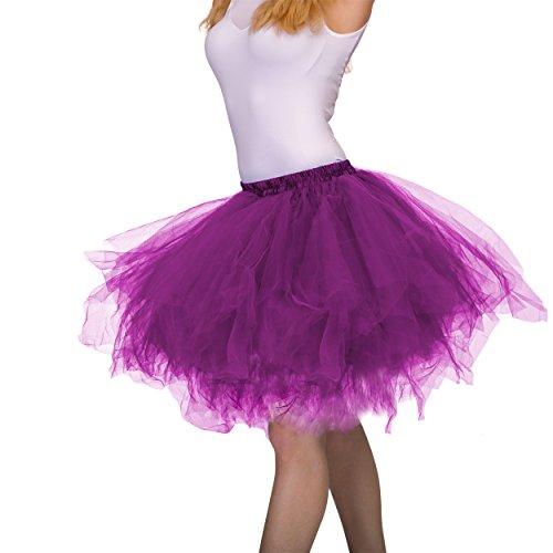 (Dancina Adult Tutu Vintage Petticoat Tulle Tutu Skirt [XXL] Plus Size 12-24 Dark)
