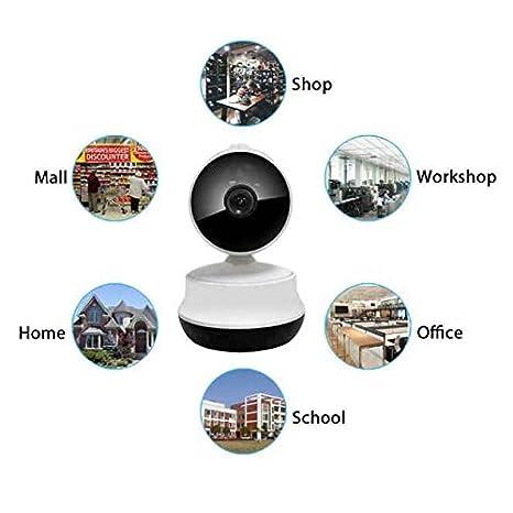 Cámara IP P2P,notificaciones Push,Visión Nocturna,Resolución HD,Cámara de Vigilancia,visión de ángulo grande,Control Movil Android/iOS,Soporte USB/Coche/AC ...