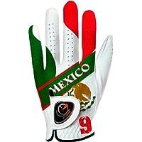 easyglove Flag_Mexico - Guantes de Golf para Hombre, Color Blanco