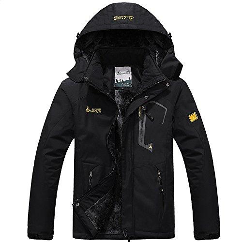 Quicksilk Men's Mountain Waterproof Fleece Ski Jacket Windproof Rain Jacket