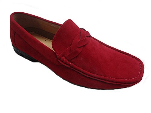 64422 Pleasure Mens Shoes Driving Island Red Loafer Aw81YFqw
