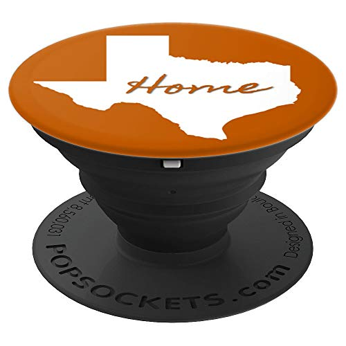 Texas Home State Orange and White - PopSockets Grip and Stand for Phones and Tablets ()