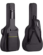 CAHAYA Guitar Bag Acoustic Full Size Gig Bag Padded Backpack Oxford Cloth Water-Resistant with Large Pockets for 38 39 40 41 inch Guitar