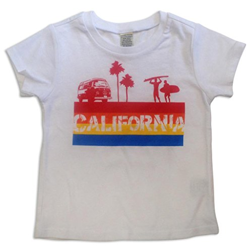 Sol Baby California 4 color Stripe White Tee-3T-White