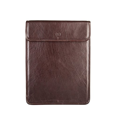 Maxwell Scott Personalized Luxury Brown Leather Shirt Case Bag (Sepino) by Maxwell Scott Bags