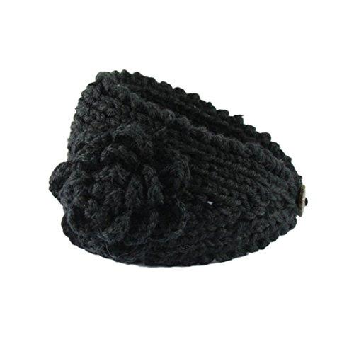 Sunward Women Crochet Headband Knit Hairband Flower Winter Ear Warmer Head Wrap -