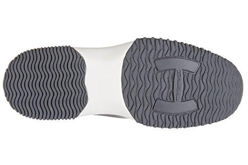 Hogan chaussures baskets sneakers homme en cuir interactive h flock gris