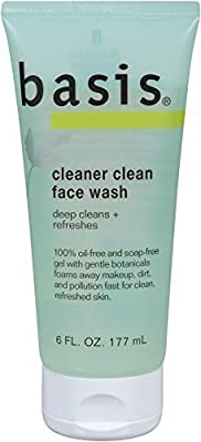 Basis Cleaner Clean Face Wash 6 Ounce Tube (Pack of 3) New