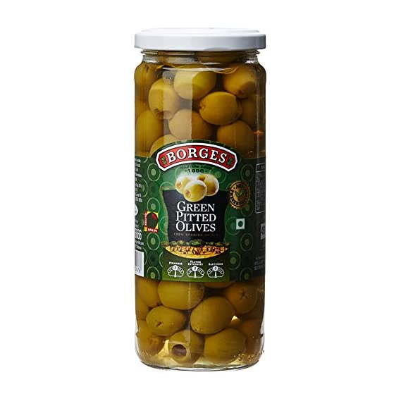 Borges Green Pitted Olives, 450g