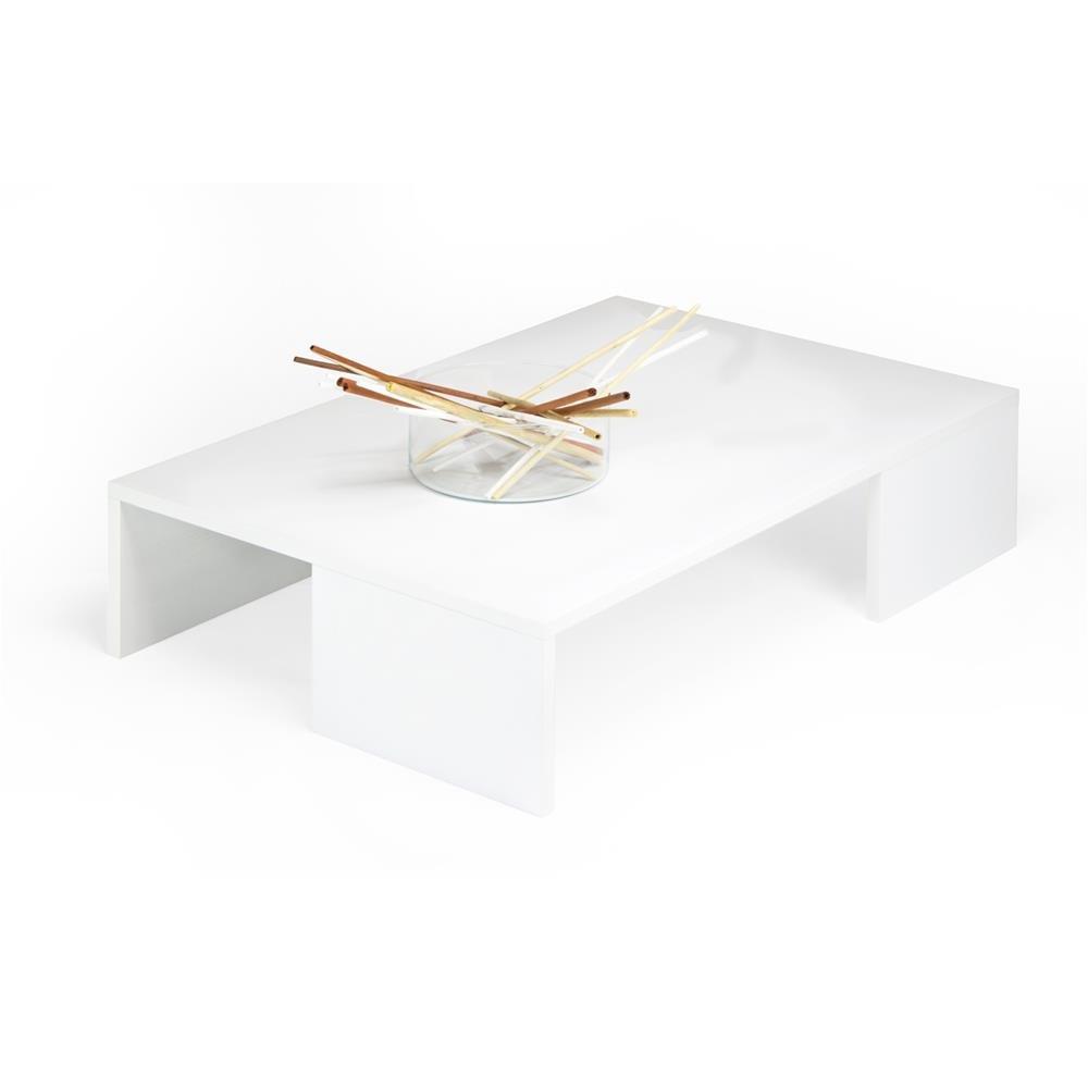 Mobili Fiver Rachele Mesa Auxiliar de Salón, Madera, Fresno Blanco, 90.0 x 60.0 x 21.0 cm