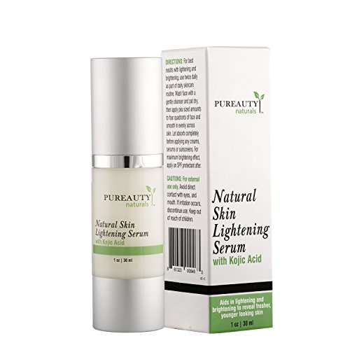 Skin Lightening Serum by Pureauty Naturals with Kojic Acid - Skin Whitening & Brightening Beauty Care Cream For Body, Face, Neck, Bikini, Sensitive Areas & All Skin Types - Dark Spot Corrector from Pureauty Naturals