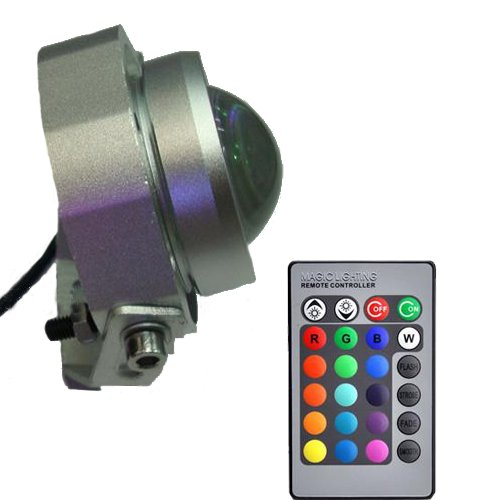 LUMINTURS 10W 12V LED RGB Color Change Outdoor Exterior Flood Light Fixtu... by Luminturs