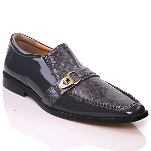 Unze Mens Leather 'Nitin' Slipons Buckled Formal Dress Shoes - IMP-M5AL