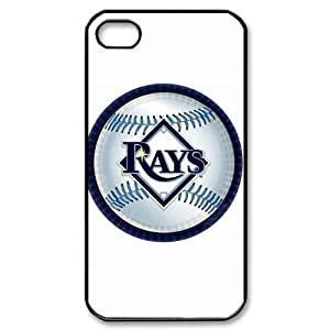 MLB iPhone 4,4S White Tampa Bay Devil Rays cell phone cases&Gift Holiday&Christmas Gifts NADL7B8824202