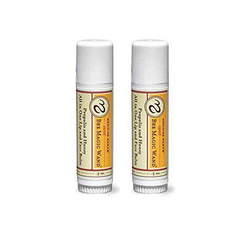 Medicine Mama's Sweet Bee Magic Organic Lip Balm, Chapstick, Face Balm, 2Count/1 oz Total