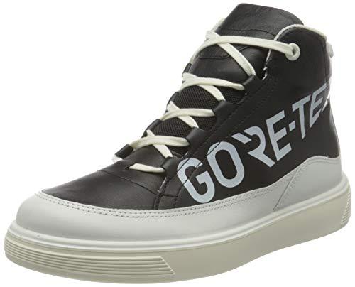 ECCO Street Tray Ankle Boot, Schwarz(Black with White), 35 EU