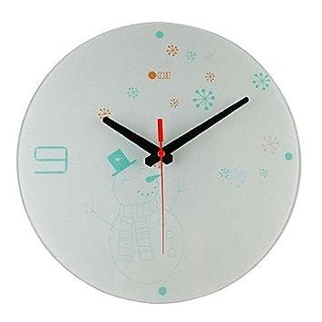 35,56 cm lo oculto de Papá Noel Carcasa de muñeco de Series de cristal reloj de pared: Amazon.es: Hogar