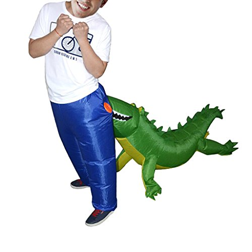 Jili Online Crocodile Inflatable Adult Costume Blow Up Jumpsuit Halloween Fancy Dress - Fancy Dress Costumes Online