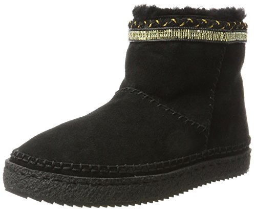 Nyali London Femme Laidback Noir Black 001 Gold Bottines 56ggqxdwU