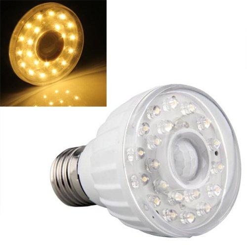 bombilla E27 de 23 LED con sensor de movimiento, luz y sonido mediante infrarrojos: Amazon.es: Bricolaje y herramientas