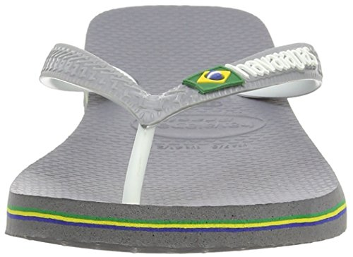 Havaianas Brasil Mix Stalen Sandalen Grijs Wit