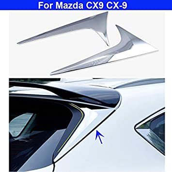 Groovy Amazon Com 2Pcs Chrome Rear Window Spoiler Side Wing Machost Co Dining Chair Design Ideas Machostcouk