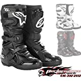 Alpinestars Tech 6S Youth Boots , Distinct Name: Black, Size: 3, Size Segment: Youth, Primary Color: Black, Gender: Boys 201506103